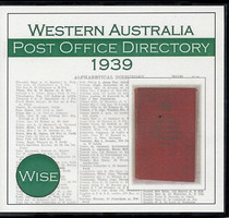 Western Australia Post Office Directory 1939 (Wise)