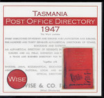 Tasmania Post Office Directory 1947 (Wise)