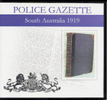South Australian Police Gazette 1919