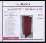Tasmania Commonwealth Electoral Roll 1939 Darwin