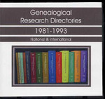 Genealogical Research Directories Set 1981-1993
