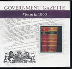 Victorian Government Gazette 1863