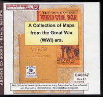 A Collection of Maps from the Great War (WWI) Era