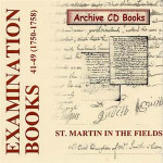 Settlement Examination Books 41-49 (1750-1758)