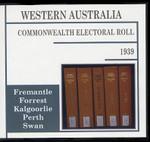 Western Australia Commonwealth Electoral Roll 1939