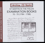 Settlement Examination Books 70-72 (1784-1788)