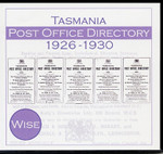 Tasmania Post Office Directory Compendium 1926-1930 (Wise)