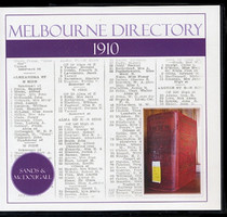 Melbourne Directory 1910 (Sands and McDougall)