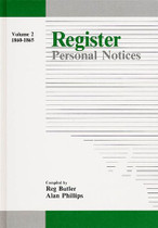 Register Personal Notices Volume 2: 1860-1865