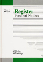 Register Personal Notices Volume 3: 1866-1870