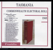 Tasmania Commonwealth Electoral Roll 1943 Franklin