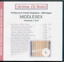Middlesex Phillimore's Parish Registers (Marriages) Volumes 1-9