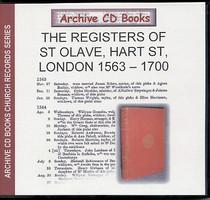 London Parish Registers: St Olave, Hart Street, London 1563-1700