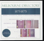 Melbourne Directory Compendium 1871-1875 (Sands and McDougall)