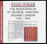 London Parish Registers: St George, Hanover Square, London 1725-1837
