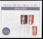 Melbourne Directory Compendium 1896-1900 (Sands and McDougall)