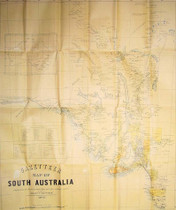 Bailliere's South Australian Gazetteer Map 1867 (folded)