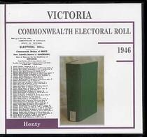 Victoria Commonwealth Electoral Roll 1946 Henty