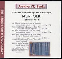 Norfolk Phillimore Parish Registers (Marriages) Volumes 1-12