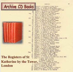 London Parish Registers: St Katherine by the Tower, London