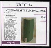 Victoria Commonwealth Electoral Roll 1946 Kooyong