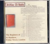 London Parish Registers: St Matthew, Friday Street, London