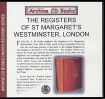 London Parish Registers: St Margaret's, Westminster, London