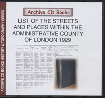 List of the Streets and Places within the Administrative County of London