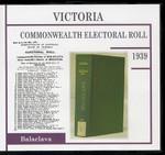 Victoria Commonwealth Electoral Roll 1939 Balaclava