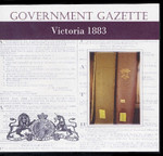 Victorian Government Gazette 1883