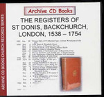London Parish Registers: St Dionis, Backchurch 1538-1754