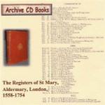 London Parish Registers: St Mary, Aldermary, London, 1558-1754