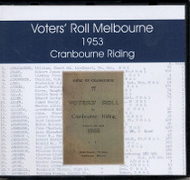 Voters' Roll Melbourne 1953: Cranbourne Riding