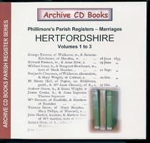 Hertfordshire Phillimore Parish Registers (Marriages) Volumes 1-3