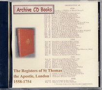 London Parish Registers: St Thomas the Apostle, London 1558-1754