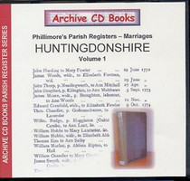 Huntingdonshire Phillimore Parish Registers (Marriages) Volume 1