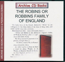 The Robins or Robbins Family of England
