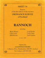 Scottish Victorian Ordnance Survey Map No. 54 Rannoch