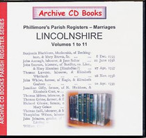Lincolnshire Phillimore's Parish Registers (Marriages) Volumes 1-11