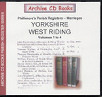 Yorkshire Phillimore's Parish Registers (Marriages) Volumes 1-4