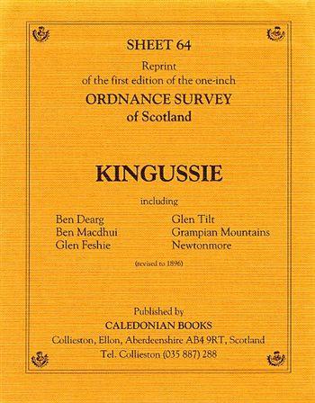 Scottish Victorian Ordnance Survey Map No  64 Kingussie
