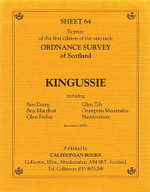 Scottish Victorian Ordnance Survey Map No. 64 Kingussie