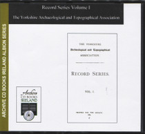 The Yorkshire Archaeological and Topographical Association: Record Series Volume 1