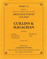 Scottish Victorian Ordnance Survey Map No. 70 Cuillins and Sligachan