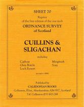 Scottish Victorian Ordnance Survey Map No. 70 Cuillins and Sligachan