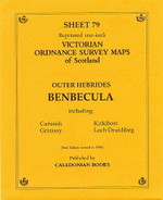 Scottish Victorian Ordnance Survey Map No. 79 Benbecula