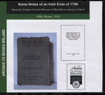 Some Notes of an Irish Exile of 1798