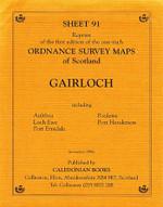 Scottish Victorian Ordnance Survey Map No. 91 Gairloch