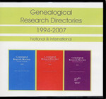Genealogical Research Directories Set 1994-2007