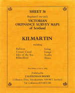 Scottish Victorian Ordnance Survey Map No. 36 Kilmartin